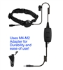Whisper Throat Mic  M4 - Motorola Multi-Pin