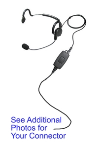 Wisp Behind the Head Headset for  K1 - All Black Diamond Kenwood 2-Pin