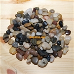 "30 lbs Mix Color Polished River Pebble Stone 0.4""-0.6"""