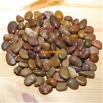 "30 lbs Red Polished River Pebble Stone 0.5""-0.8"""