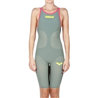 Rapid Swimshop Arena Powerskin Carbon Air Kneeskin Short Leg (Open) Dark Green/Red