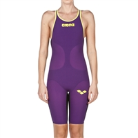 Rapid Swimshop Arena Powerskin Carbon Air Kneeskin Short Leg (Open) Plum/Yellow