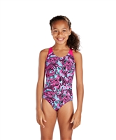 Rapid Swimshop Speedo Endurance+ Astropop Allover Splashback Pink/Blue - Girls