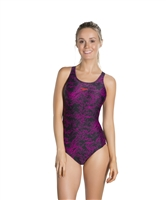 Rapid Swimshop Speedo Endurance10 Boom Allover Muscleback Black/Pink