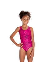 Rapid Swimshop Speedo Endurance10 Boom Allover Splashback Pink/Black - Girls