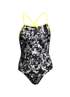 Funkita Strapped In Midnight Assassin Girls Rapid Swimshop