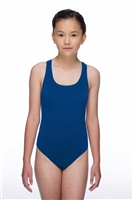 Rapid Swimshop Maru Solid Pacer Open Back Royal Blue - Girls
