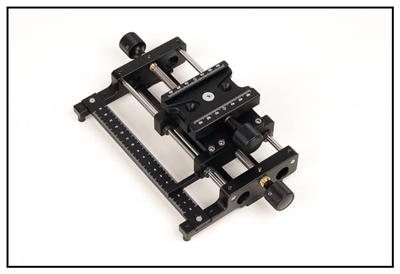 Screw  Adjusting Macro Rail with Scale