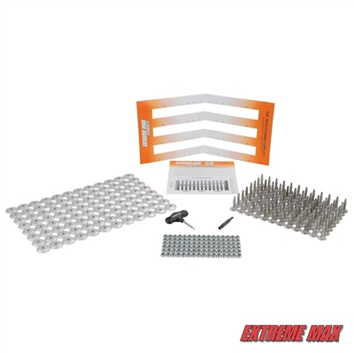 "Extreme Max 108-Stud Track Pack with Round Backers -  1.15"" Stud Length"