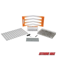 "Extreme Max 120-Stud Track Pack with Round Backers -  1.25"" Stud Length"