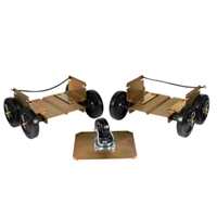 Extreme Max Power Wheels Driveable Dollies- Wide