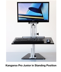 Kangaroo Pro Junior Desktop Sit Stand Workstation with Monitor Mount