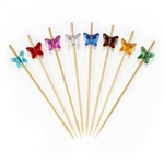 Acrylic Butterfly Bamboo Skewers