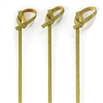 Premium Decorative Green Bamboo Knotted Knot Picks Skewers, Party Supplies