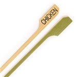 "Chicken Meat Marker Bamboo Paddle Pick  - 3.5"" (9cm)"