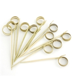 Decorative Bamboo Ring Picks Skewers, Party Supplies