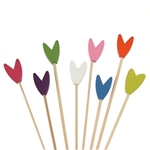 Premium Decorative Natural Bamboo Tulip Picks Skewers, Party Supplies
