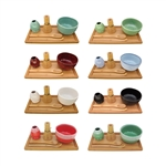 Matcha Bowl Set (Includes Bowl, Rest,Tea Whisk, Chasaku, Tea Spoon & Tray)