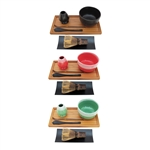 Matcha Bowl Set (Includes Bowl, Rest, Black Tea Whisk, Black Chasaku, Black Tea Spoon, Rest Tray & Tray)