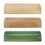 "9.84"" Bamboo Food Display Stand Half Cut Skewers Stand w/ 20 Holes"