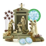 Willow Tree 19 Piece Nativity Set By Susan Lordi (Includes Ox and Goat Peace on Earth)