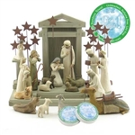 Willow Tree 21 Piece Nativity Set By Susan Lordi (Includes Peace On Earth)