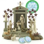 Willow Tree 21 Piece Nativity Set By Susan Lordi (Includes a Tree a Prayer Angel)