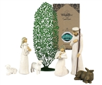 Maven Gifts: Willow Tree Nativity Set with Tree Silhouette by Susan Lordi