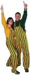 Green & Gold Adult Striped Game Bib Overalls