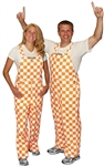 Game Bibs (Adult): Orange and White Checkered