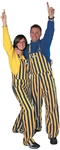Navy Blue & Maize Adult Striped Game Bib Overalls