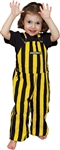 black and yellow toddler game bib overalls