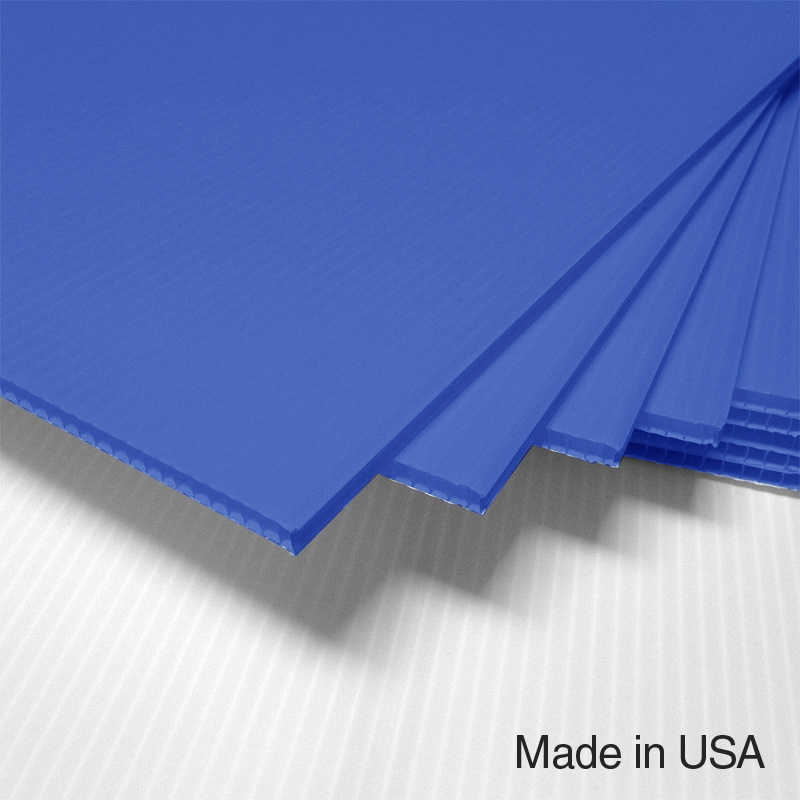 Intepro Corrugated Plastic Light Blue