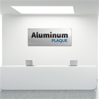 Custom Aluminum Plaque Custom Lobby Sign For Reception Area Office Sign