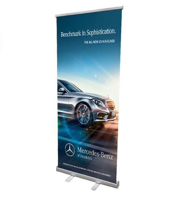 Retractable roll up banner stand 33 with vinyl print for Stand roll up