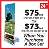 Outdoor X Banner Stand Water Base - Stand Only [BOX SET OF 10]