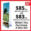 Double Sided Outdoor X Banner Stand Water Base - Stand Only [BOX SET OF 10]