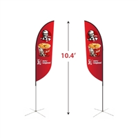 Small Double-Sided Feather Flag Kit