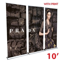 HD Retractable Banner Stand Wall 10'