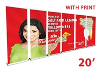 "20ft Wall  - HD 36"" Retractable Banner Stands"