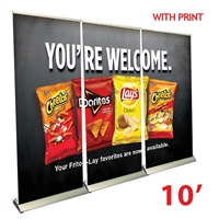 Premium Retractable Roll Up Banner Stand Wall 10'