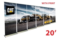 "20ft Wall - 33"" Premium Retractable Roll Up Banner Stands"