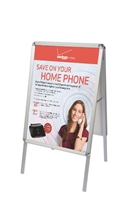 A-Frame Snap-Open Sidewalk Poster Stand with Vinyl Prints