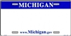 Michigan Blank License Plate Vinyl Cricut Pazzles