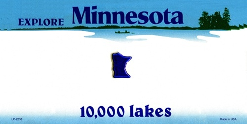 Aluminum License Plate Frame >> Minnesota Blank License Plate