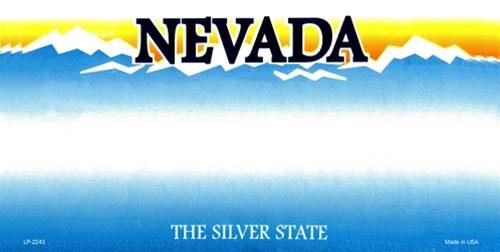 Nevada Blank License Plate