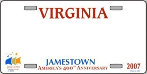 Virginia Blank License Plate Vinyl Cricut Pazzles