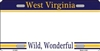 West Virginia Blank License Plate