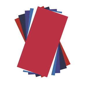 Patriotic Colors Adhesive Vinyl Sheets Pack