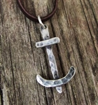 Hammered Anchor Necklace